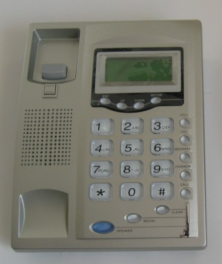 Non-standard PA1688 based Koncept KE1000 IP phone front picture.