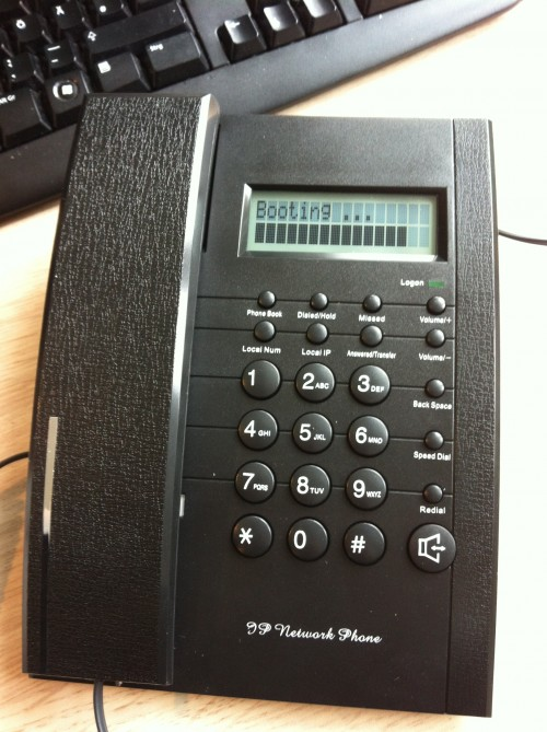 Primeworx P100 IP phone front view